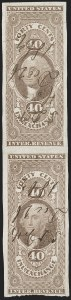 Sale Number 1209, Lot Number 1477, Revenues: First Issue Imperforate (R1a-R76a)40c Inland Exchange, Imperforate (R53a), 40c Inland Exchange, Imperforate (R53a)