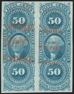 Sale Number 1209, Lot Number 1478, Revenues: First Issue Imperforate (R1a-R76a)50c Life Insurance, Imperforate (R58a), 50c Life Insurance, Imperforate (R58a)