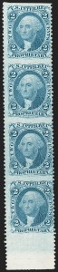 Sale Number 1209, Lot Number 1542, Revenues: First Issue Part Perforated2c Proprietary, Blue, Part Perforated (R13b), 2c Proprietary, Blue, Part Perforated (R13b)