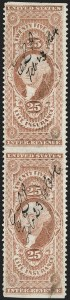 Sale Number 1209, Lot Number 1554, Revenues: First Issue Part Perforated25c Life Insurance, Part Perforated (R47b), 25c Life Insurance, Part Perforated (R47b)
