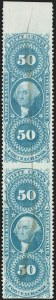 Sale Number 1209, Lot Number 1558, Revenues: First Issue Part Perforated50c Foreign Exchange, Part Perforated (R56b), 50c Foreign Exchange, Part Perforated (R56b)