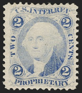 Sale Number 1209, Lot Number 1560, Revenues: First Issue Perforated2c Proprietary, Ultramarine, Perforated (R13e), 2c Proprietary, Ultramarine, Perforated (R13e)