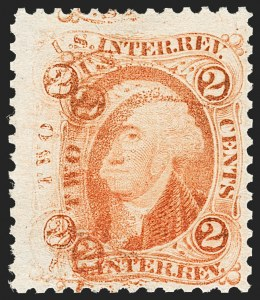 Sale Number 1209, Lot Number 1562, Revenues: First Issue Perforated2c U.S.I.R., Perforated (R15c), 2c U.S.I.R., Perforated (R15c)