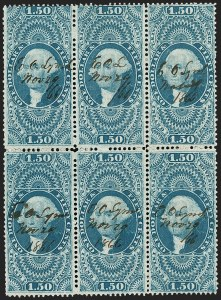 Sale Number 1209, Lot Number 1569, Revenues: First Issue Perforated$1.50 Inland Exchange, Perforated (R78c), $1.50 Inland Exchange, Perforated (R78c)