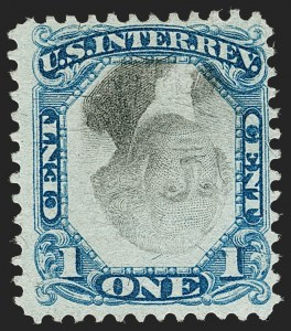 Sale Number 1209, Lot Number 1578, Revenues: Second Issue1c Blue & Black, Second Issue, Center Inverted (R103a), 1c Blue & Black, Second Issue, Center Inverted (R103a)