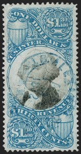 Sale Number 1209, Lot Number 1583, Revenues: Second Issue$1.30 Blue & Black, Second Issue (R119), $1.30 Blue & Black, Second Issue (R119)