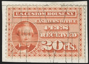 Sale Number 1209, Lot Number 1650, Revenues: Customs Fee20c Red, Customs Fee, Perf 10 (RL1a), 20c Red, Customs Fee, Perf 10 (RL1a)