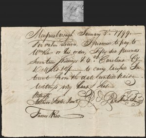 Sale Number 1210, Lot Number 2071, First Federal Issue: North Carolina20c North Carolina (RM164), 20c North Carolina (RM164)