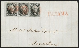 Sale Number 1211, Lot Number 119, 1847 Issue Used to and from Central America,