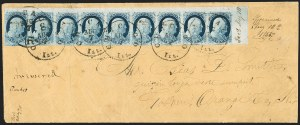 Sale Number 1211, Lot Number 177, 1851 1¢ Blue—Plate 1 Late,