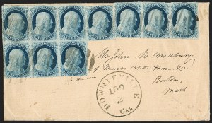 Sale Number 1211, Lot Number 180, 1851 1¢ Blue—Plate 1 Late,