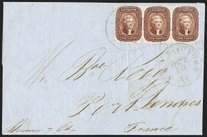 Sale Number 1211, Lot Number 229, 1856 5¢ Red Brown,