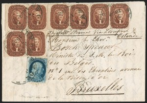 Sale Number 1211, Lot Number 315, 1857-60 1¢ to 90¢ Perforated Issues,