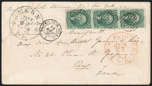 Sale Number 1211, Lot Number 325, 1857-60 1¢ to 90¢ Perforated Issues,