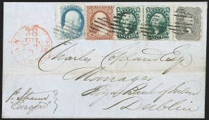 Sale Number 1211, Lot Number 330, 1857-60 1¢ to 90¢ Perforated Issues,