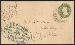 Sale Number 1211, Lot Number 338, Western Mails, including the Pony Express,