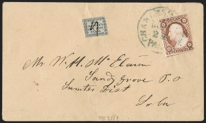 "Sale Number 1211, Lot Number 355, Carrier and Local Post Issues2¢ Honour's City Post carrier issue with the ""Cens, 2¢ Honour's City Post carrier issue with the ""Cens"