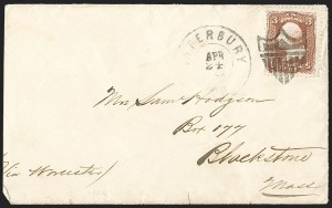 Sale Number 1211, Lot Number 449, Fancy Cancellations—Waterbury, Connecticut,
