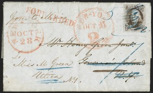 Sale Number 1211, Lot Number 67, 1847 Issue—Advertised and Forwarded Markings,