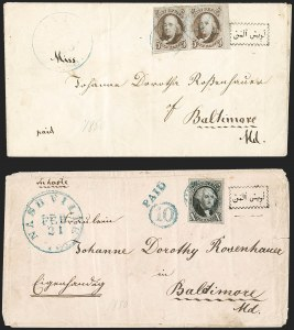 Sale Number 1211, Lot Number 89, 1847 Issue—Corner Card Envelopes,