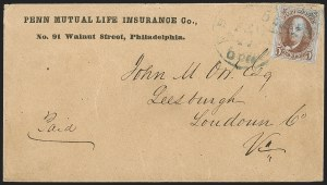 Sale Number 1211, Lot Number 90, 1847 Issue—Corner Card Envelopes,