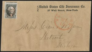 Sale Number 1211, Lot Number 91, 1847 Issue—Corner Card Envelopes,