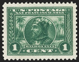 Sale Number 1212, Lot Number 107, 1913-15 Panama-Pacific Issue (Scott 397-404)1c Panama-Pacific (397), 1c Panama-Pacific (397)