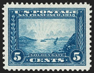 Sale Number 1212, Lot Number 111, 1913-15 Panama-Pacific Issue (Scott 397-404)5c Panama-Pacific (399), 5c Panama-Pacific (399)