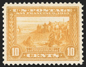 Sale Number 1212, Lot Number 113, 1913-15 Panama-Pacific Issue (Scott 397-404)10c Orange Yellow, Panama-Pacific (400), 10c Orange Yellow, Panama-Pacific (400)