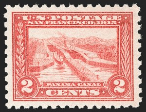 Sale Number 1212, Lot Number 119, 1913-15 Panama-Pacific Issue (Scott 397-404)2c Panama-Pacific, Perf 10 (402), 2c Panama-Pacific, Perf 10 (402)