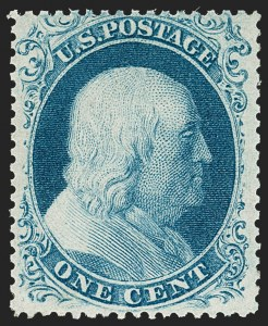 Sale Number 1212, Lot Number 12, 1851-60 Issues1c Blue, Ty. IIIa (22), 1c Blue, Ty. IIIa (22)