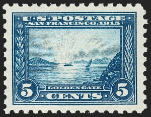 Sale Number 1212, Lot Number 122, 1913-15 Panama-Pacific Issue (Scott 397-404)5c Panama-Pacific, Perf 10 (403), 5c Panama-Pacific, Perf 10 (403)