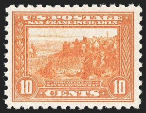 Sale Number 1212, Lot Number 123, 1913-15 Panama-Pacific Issue (Scott 397-404)10c Panama-Pacific, Perf 10 (404), 10c Panama-Pacific, Perf 10 (404)