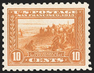 Sale Number 1212, Lot Number 125, 1913-15 Panama-Pacific Issue (Scott 397-404)10c Panama-Pacific, Perf 10 (404), 10c Panama-Pacific, Perf 10 (404)
