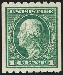 Sale Number 1212, Lot Number 128, 1912-16 Washington-Franklin Issues1c Green, Coil (410), 1c Green, Coil (410)