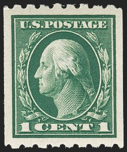 Sale Number 1212, Lot Number 129, 1912-16 Washington-Franklin Issues1c Green, Coil (410), 1c Green, Coil (410)