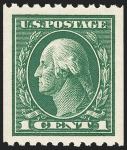 Sale Number 1212, Lot Number 137, 1912-16 Washington-Franklin Issues1c Green, Coil (441), 1c Green, Coil (441)