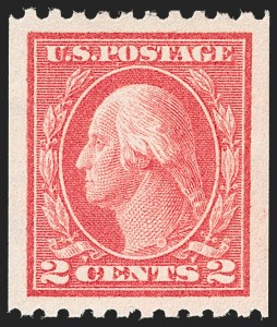Sale Number 1212, Lot Number 138, 1912-16 Washington-Franklin Issues2c Carmine, Ty. I, Coil (442), 2c Carmine, Ty. I, Coil (442)