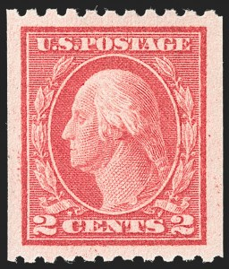 Sale Number 1212, Lot Number 139, 1912-16 Washington-Franklin Issues2c Carmine, Ty. I, Coil (442), 2c Carmine, Ty. I, Coil (442)