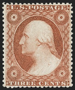 Sale Number 1212, Lot Number 14, 1851-60 Issues3c Dull Red, Ty. III (26). Mint N.H, 3c Dull Red, Ty. III (26). Mint N.H