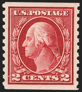 Sale Number 1212, Lot Number 140, 1912-16 Washington-Franklin Issues2c Carmine, Coil (444), 2c Carmine, Coil (444)