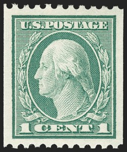 Sale Number 1212, Lot Number 142, 1912-16 Washington-Franklin Issues1c Green, Coil (448), 1c Green, Coil (448)
