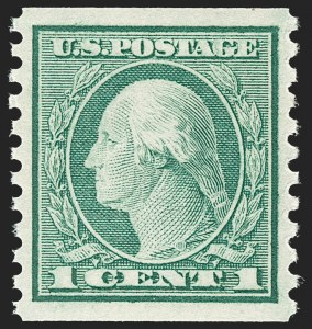 Sale Number 1212, Lot Number 144, 1912-16 Washington-Franklin Issues1c Green, Coil (452), 1c Green, Coil (452)