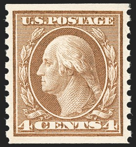 Sale Number 1212, Lot Number 145, 1912-16 Washington-Franklin Issues4c Brown, Coil (457), 4c Brown, Coil (457)