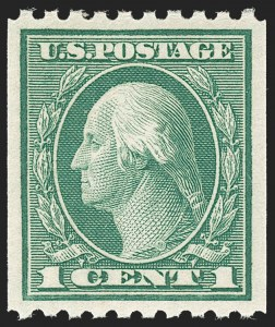 Sale Number 1212, Lot Number 149, 1912-16 Washington-Franklin Issues1c Green, Coil (486), 1c Green, Coil (486)