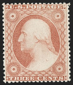 Sale Number 1212, Lot Number 15, 1851-60 Issues3c Dull Red, Ty. III (26). Mint N.H, 3c Dull Red, Ty. III (26). Mint N.H