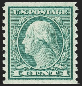 Sale Number 1212, Lot Number 151, 1912-16 Washington-Franklin Issues1c Green, Coil (490), 1c Green, Coil (490)
