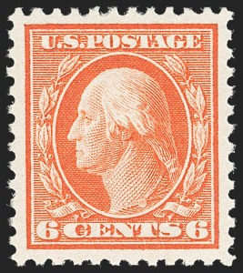 Sale Number 1212, Lot Number 165, 1917-19 Washington-Franklin Issues6c Red Orange (506), 6c Red Orange (506)