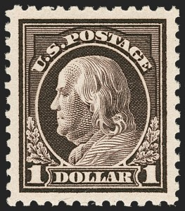 Sale Number 1212, Lot Number 175, 1917-19 Washington-Franklin Issues$1.00 Violet Brown (518), $1.00 Violet Brown (518)