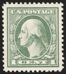 Sale Number 1212, Lot Number 183, 1917-19 Washington-Franklin Issues1c Gray Green (536), 1c Gray Green (536)